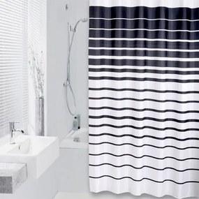 Douchegordijn Differnz Textiel Lineae Polyester Zwart 180x200cm
