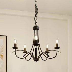 Amonja kroonluchter, 5-lamps, bruin - lampen-24