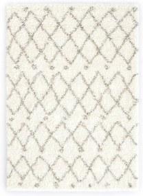 Tapijt Berber shaggy hoogpolig 80x150 cm PP beige zandkleurig