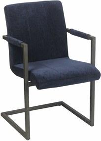 Viverne | Eetkamerstoel Chairactor - totaal: breedte 54 cm x diepte 61 cm x hoogte blauw eetkamerstoelen textiel, metaal | NADUVI outlet