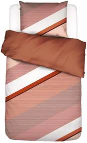 ESSENZA | Dekbedovertrekset Robbin lits-jumeaux: breedte 240 cm x lengte 220 cm + 2x karamel, roze, oranje dekbedovertreksets | NADUVI outlet