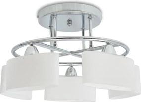 Plafondlamp met ellipsvormige glazen kappen 5xE14 200W
