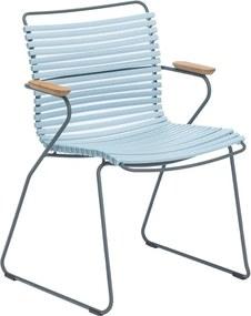 Houe Click Armchair tuinstoel dusty light blue set van 2