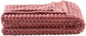 Plaid Judith - roze - 130x160 cm - Leen Bakker