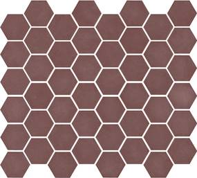 Mozaiek Valencia Hexagon Bordeaux 4,3x4,9