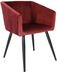 Kick Collection | Eetkamerstoel Liv breedte 57 cm x diepte 54 cm x hoogte 79 cm zwart, rood stoelen metaal meubels stoelen | NADUVI outlet