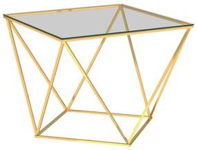 Medina Salontafel 80x80x45 cm roestvrij staal goudkleurig