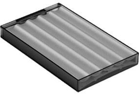Villeroy en boch My view planchet 17.5x11 cm met aluminium profiel 1071671