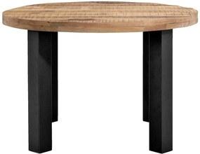 Eetkamertafel Trevor - bruin/zwart - 77xØ150 cm - Leen Bakker