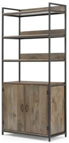 Lomond modulaire boekenkast met opbergruimte, zwart en mangohout