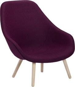 Hay About A Lounge Chair High /Soft AAL92 Fauteuil Bekleding Divina Melange 671 Onderstel Gezeept Eiken