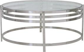 Salontafel ANGOL - glas + nikkel