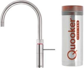Quooker Fusion Round keukenkraan koud, warm en kokend water met PRO3 reservoir RVS 3FRRVS
