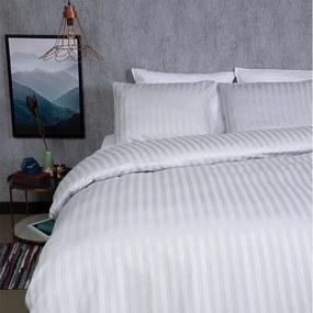 Dekbed-Discounter Satin Stripes - Zilver Grijs 1-persoons (140 x 200/220 cm + 1 kussensloop) Dekbedovertrek