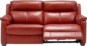 Goossens Excellent Bank Dennis Met Relaxfunctie rood, leer, 2,5-zits, stijlvol landelijk