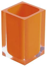 Tandenborstelhouder Sapho Rainbow Vrijstaand 11x7.2 cm Kunststof Oranje