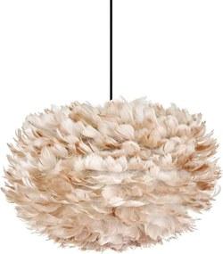 EOS hanglamp lichtbruin - Medium Ø 45 cm + Koordset zwart