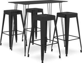 5-delige Barset zwart