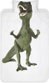 Snurk Dinosaurus Rex dekbedovertrekset van katoen 160TC - inclusief kussenslopen