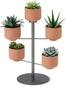 Umbra Terrapotta plantenhouder 29x38x29cm voor 5 planten keramiek Titanium 1015664-624