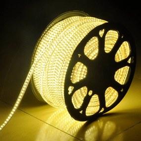 LED Lichtslang 50 meter 3000K warm wit 60 LEDs per meter IP65 incl. netsnoer Plug & Play