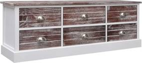 Halbankje 115x30x40 cm hout bruin