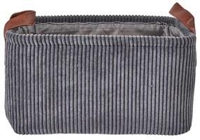 Mand corduroy - grijs - 33x23x18 cm