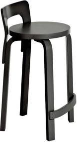 Artek K65 barkruk zwart