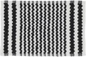 Badmat Antislip Sealskin Motif Katoen Zwart 50x80cm