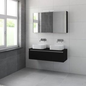 Faro meubelset spiegelkast 120 zijdezwart