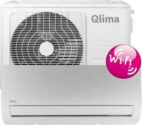 Qlima Airco splitunit airco 60-85m3 binnen- en buitenunit WIFI wit SC5225