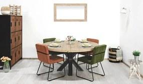 Ronde steigerhouten tafel Burley met matrix poot