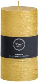 Sfeer stompkaars Rustiek - goudkleurig - 13xØ6,8 cm - Leen Bakker