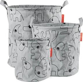 Storage baskets 3 pcs - Contour Grey - Speelgoed accessoires