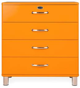 Tenzo Malibu Brede Ladekast Oranje - 86x41x92cm.