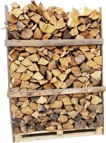 Berkenhout – Natuurgedroogd – 1,6 kuub gestapeld - 700 houtblokken