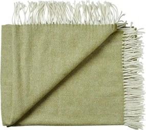 Plaid groen, visgraat, alpaca, wol: Sevilla