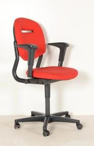 Bureaustoel 220, rood, 1D armleggers