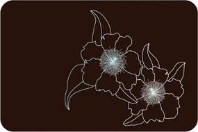 D-C-fix placemat Flower Brown