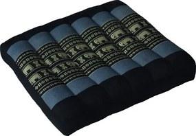 Thais Laptopkussen en Stoelkussen 38 x 38 cm Zwart/Grijs