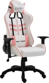 Gamingstoel kunstleer roze