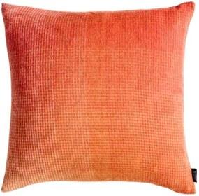 Kussen oranje, pompoen, alpaca wol: Horizon, vierkant Met binnenkussen 50 x 50 cm