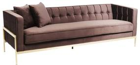Kare Design Loft Fluwelen 3-zitsbank Modern Bruin