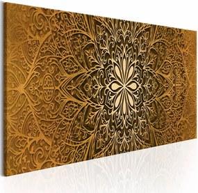 Schilderij - Gouden Finesse mandala , goud look