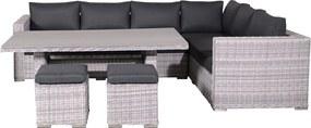 Garden Impressions Tennessee lounge dining set 5-delig R - licht grijs