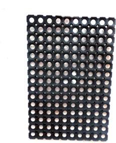 Simpele zwarte deurmat L