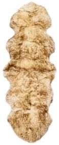 Medina Vloerkleed 60x180 cm schapenvacht gemêleerd bruin