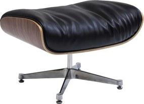 Kare Design Ponte Black Zwart Comfortabel Voetenbankje