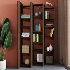 TemaHome Twin Schuine Boekenkast Roomdivider Walnoot - 138x38x187cm.