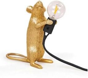 Seletti Seletti Mouse Lamp Standing Tafellamp Goud Zwart Snoer